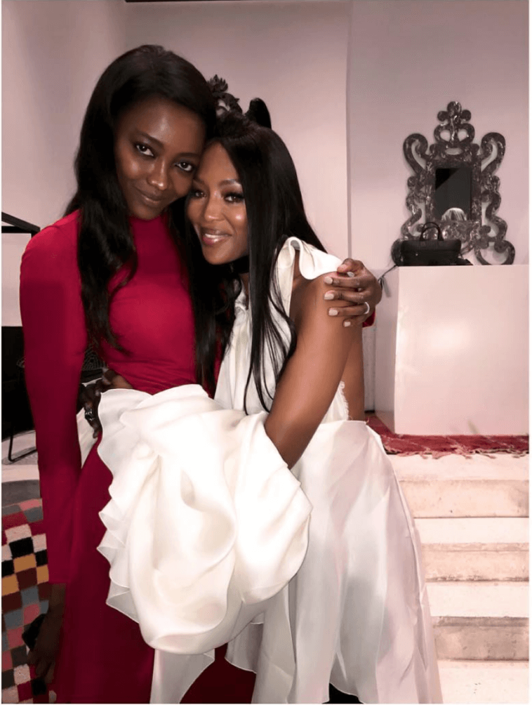 Oluchi And Naomi Campbell Pose For A Photo
