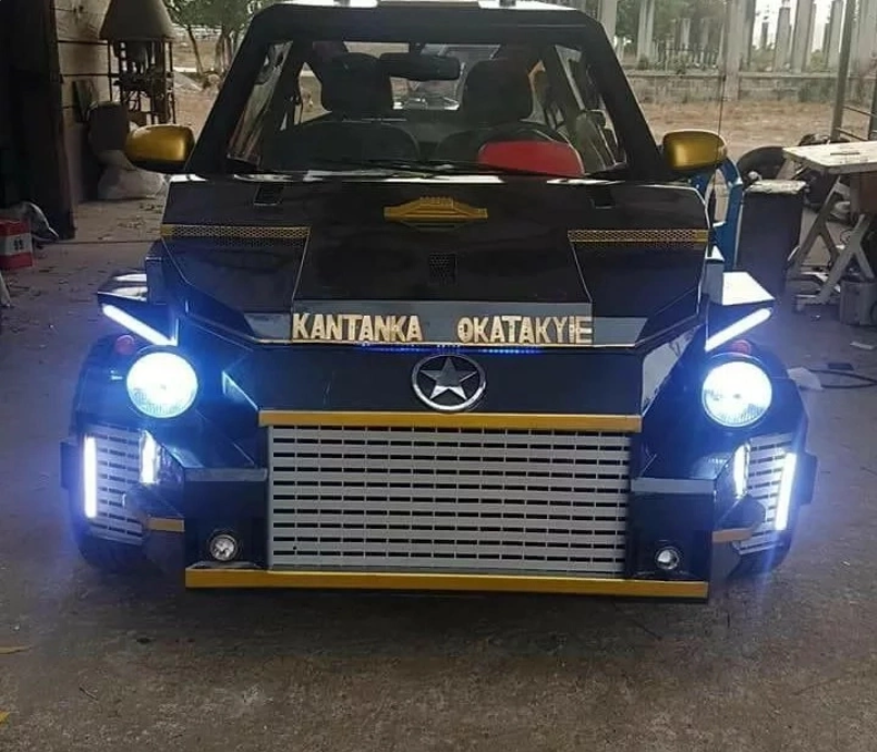 Creativity! Ghanaian Apostle Invents G-wagon Like Car, Calls it Special Name (Photos)