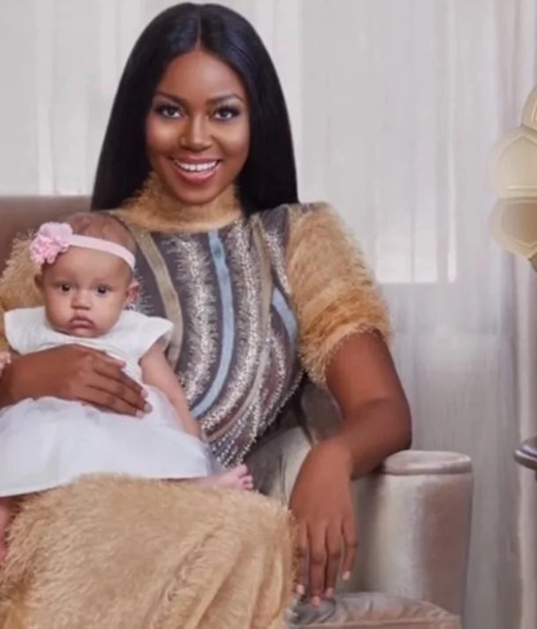 Adorable Photos of Ghanaian Actress Yvonne Nelson Breastfeeding Her Baby Girl