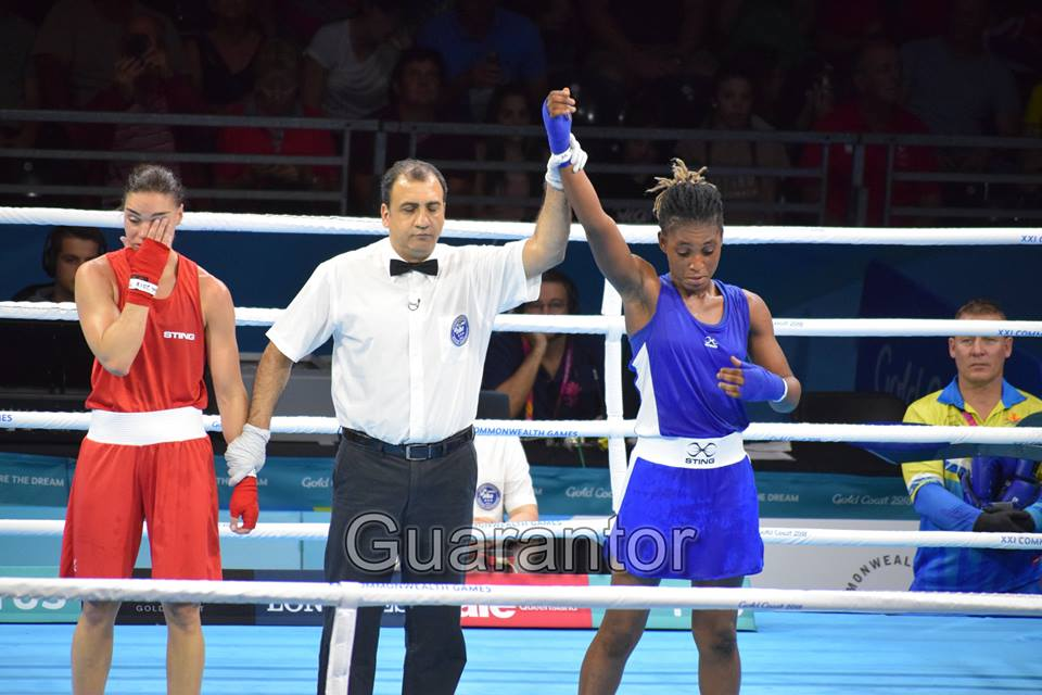 2018 Commonwealth Games; Nigerian Female Army Officer Shows Her Boxing Prowess (Photos)