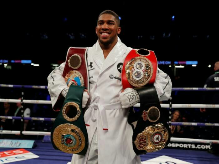 Anthony Joshua Calls Out Deontay Wilder After Breezing Past Joseph Parker