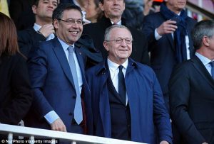 Barcelona president Josep Bartomeu apologises to fans after being knocked out of the Champions League