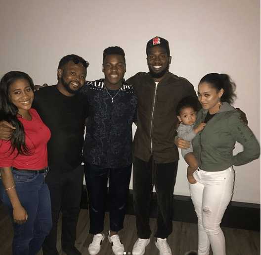 Dbanj, His Wife And Son Attend Private Screening Of John Boyega's Pacific Rim Uprising