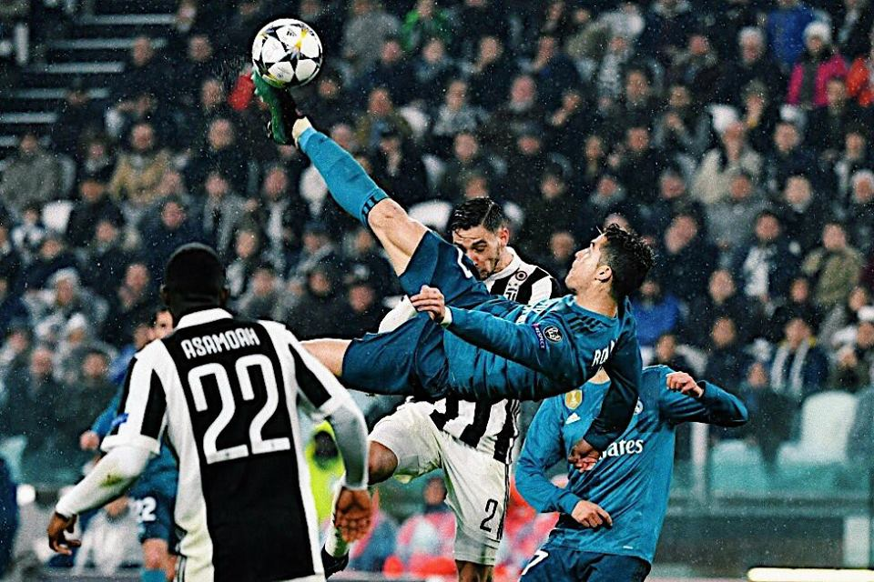See What Cristiano Ronaldo Did A Day Before Scoring Incredible Bicycle Kick Goal (Photos)