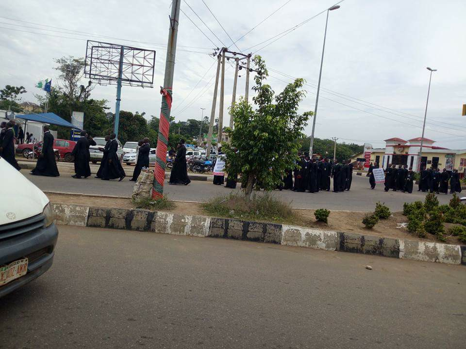 Catholic Priests Wear Black Garments To Protest Over killings By Herdsmen (Photos)