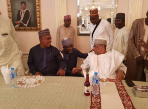 IBB hosts PDP chairman, Uche Secondus in Minna [PHOTOS]