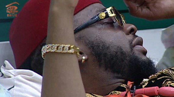 #BBNaija Teddy A Weeps Over Bam Bam's Shock Eviction