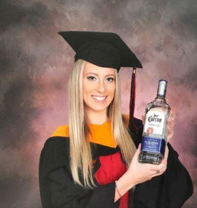 "Student Thanks Her ""Mentors"", Alcohol And Pizza For Helping Her Graduate (Photos)"