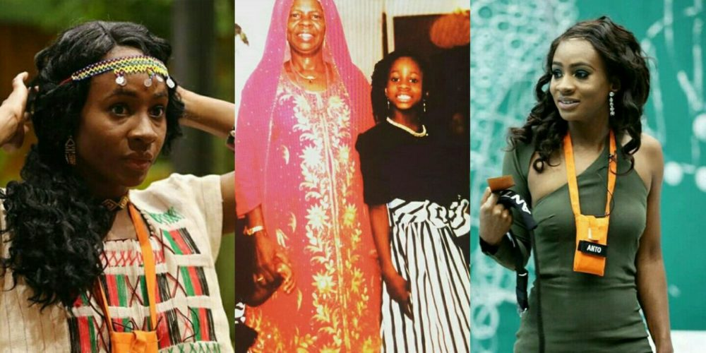 #BBNaija: Throwback Photo Of 'Double Wahala' Housemate Anto, Her Mother & Sister
