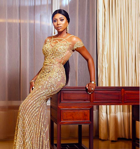 Stephanie Coker Stuns In Gold For Africa Beauty Pagaent