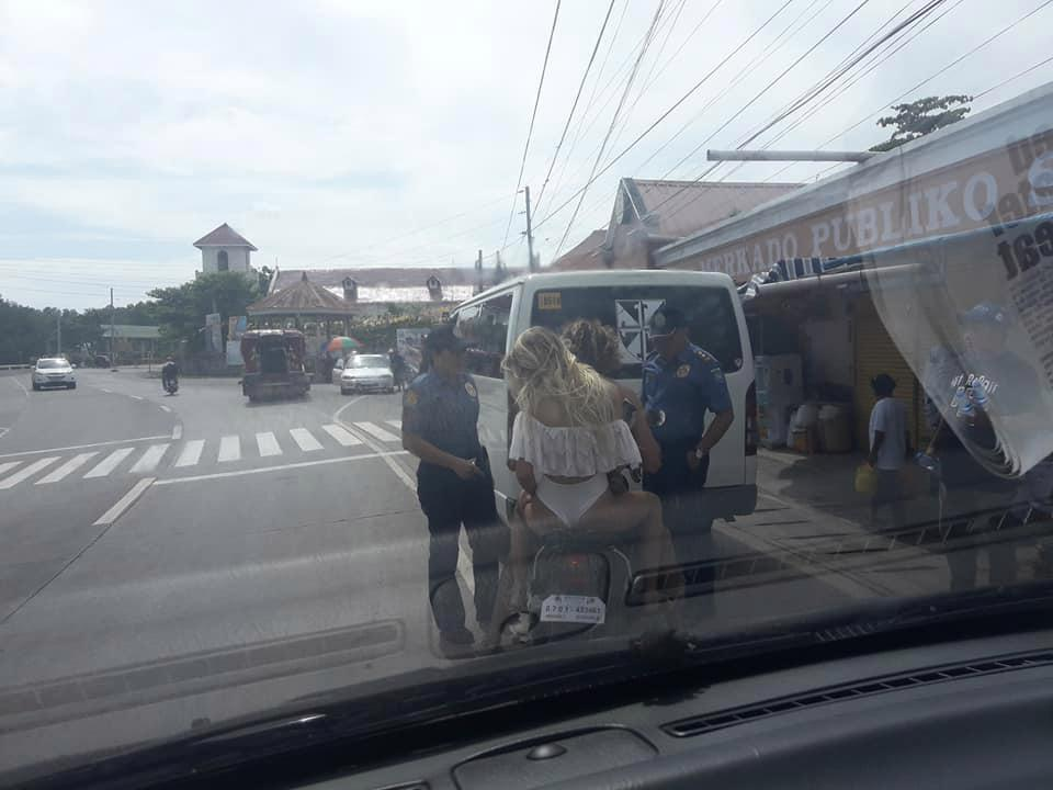 Female Tourist Stopped By Police For Wearing Bikini Pants On A Motorcycle (Photos)