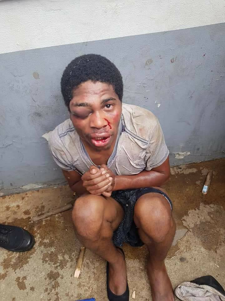 Young Man Beaten Black And Blue For Robbing Woman Of Her ATM Card (Photos)