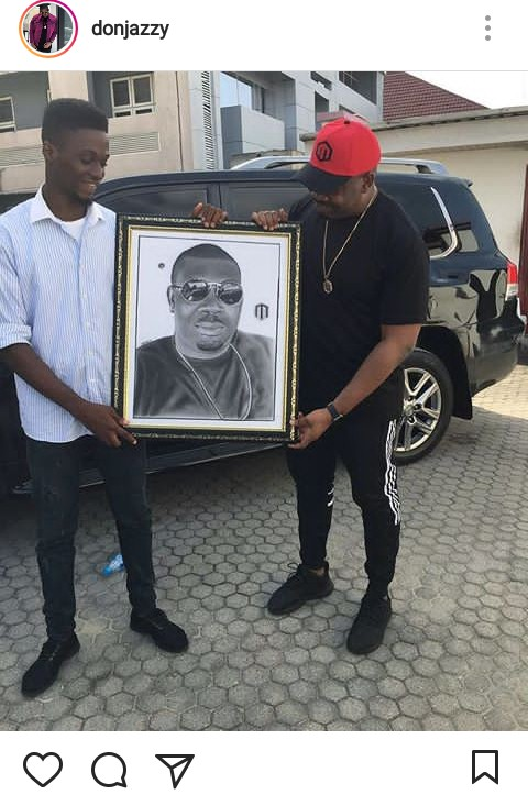 Don Jazzy Gives Fan Artist N1 Million For These Drawings (Photos)