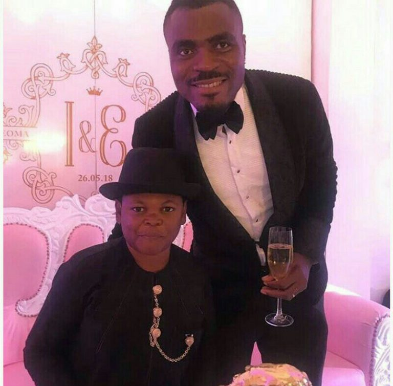 Cute Photo Of Emmanuel Emenike And Pawpaw At His Wedding