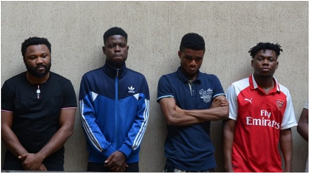 Six 'Yahoo' Boys Arrested By EFCC At Their Hideouts In Abuja (Photo)