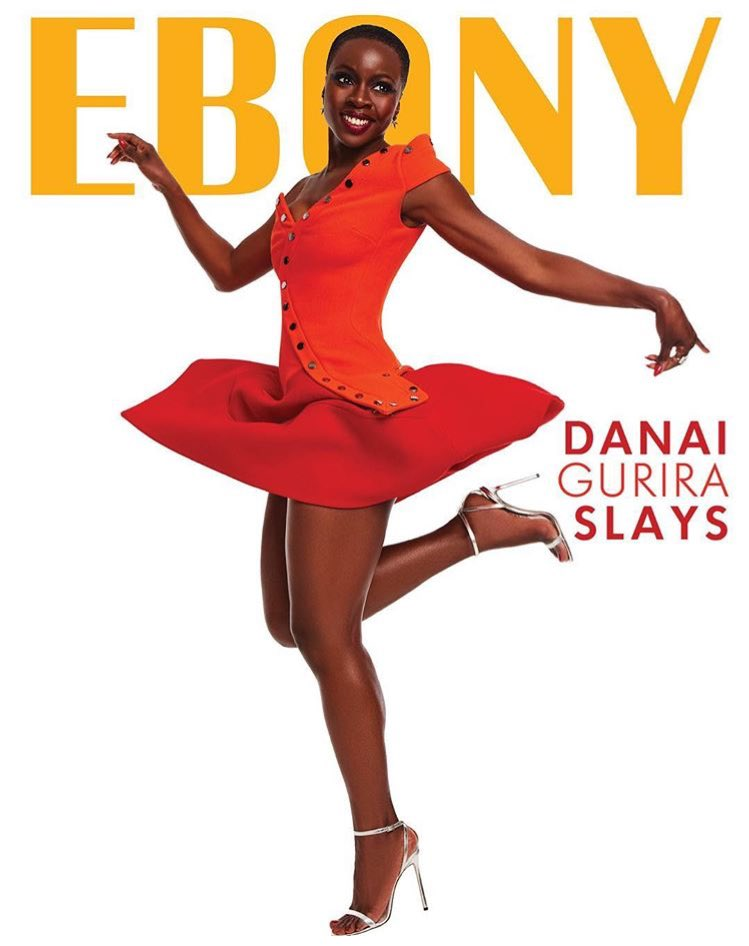 Okoye sprinkling some of that vibranium magic on our TL as she graces the cover of Ebony Magazine's June 2018 edition