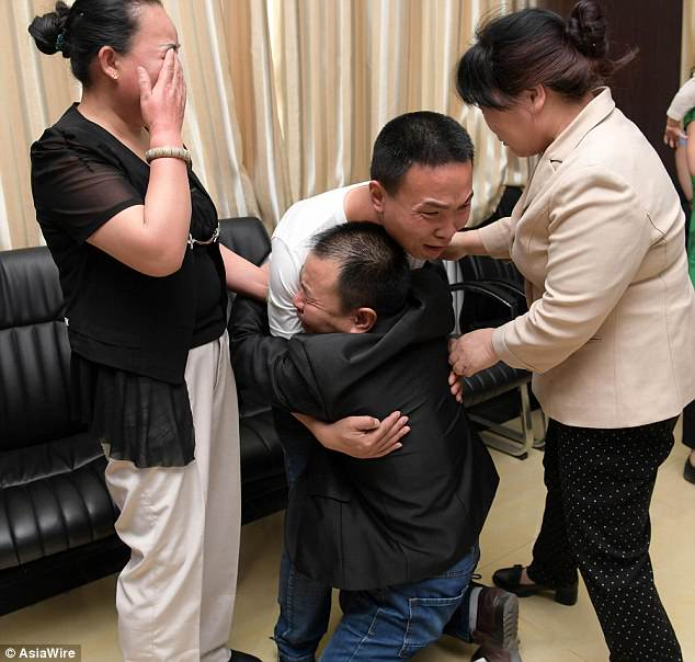 Father Breaks Down In Tears After Reuniting With Lost Son After 24 Years (Photos)