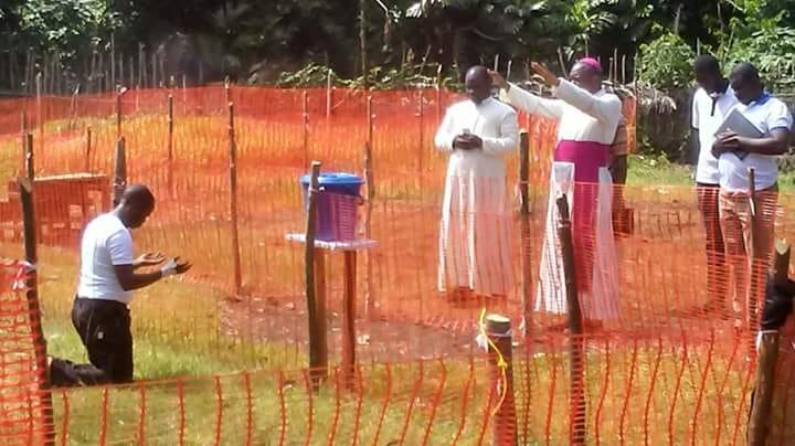 Photo Of Catholic Priest Infected With Ebola As Bishops Prays For Him Afar