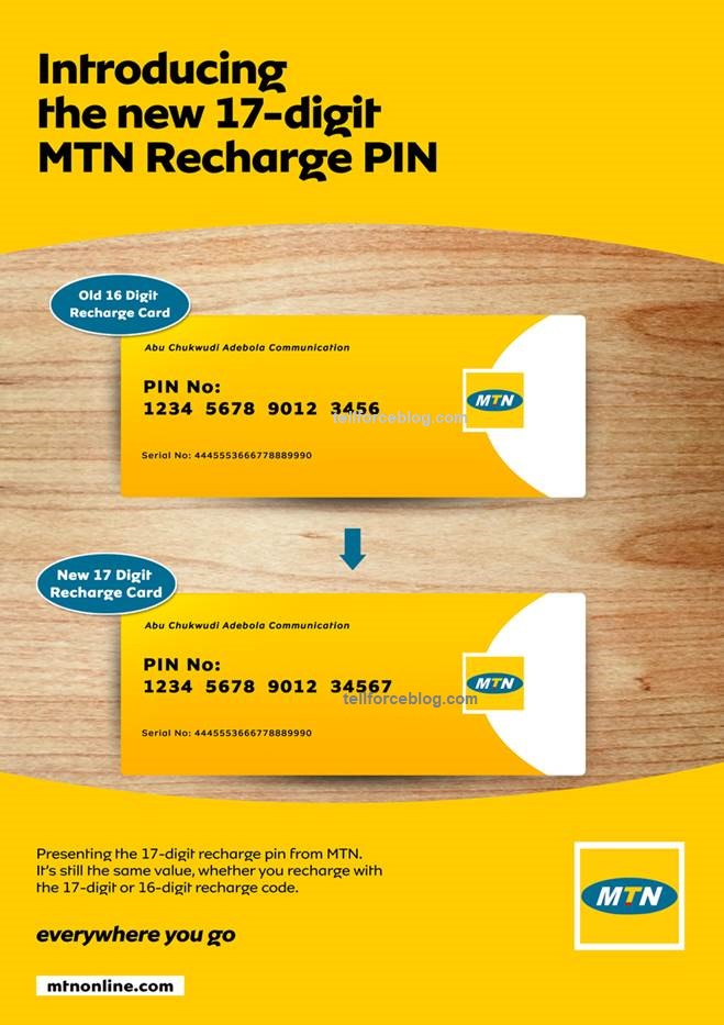 MTN Introduces 17-Digit MTN Recharge PIN