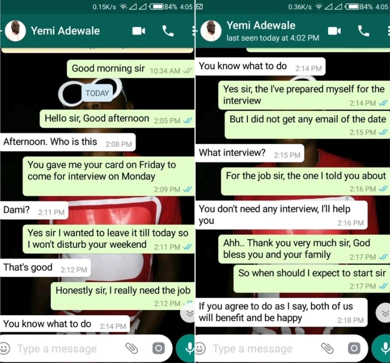 Nigerian Lady Exposes Man Who Wanted to Sleep With Her For a Job (Photo)