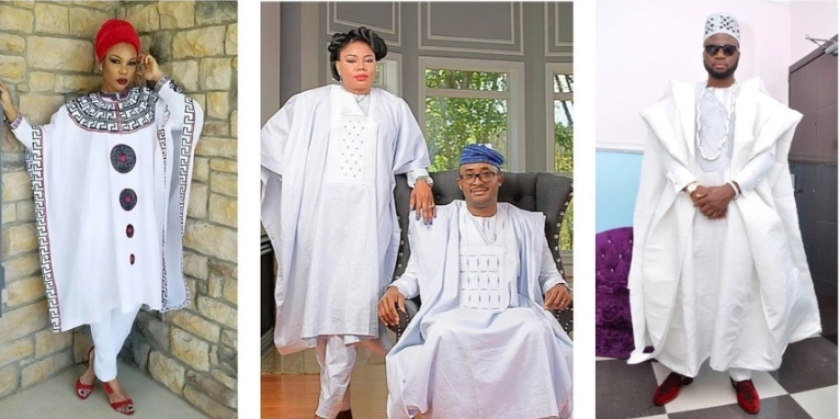 Trendy White Agbada Styles for Guys and Ladies (Photos)