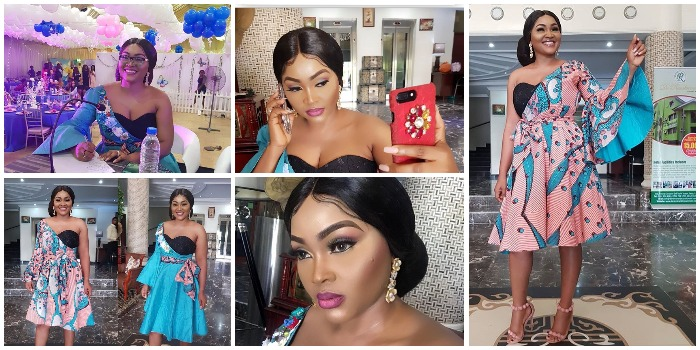 Beautiful Mercy Aigbe Rocks One Ankara Dress in Two Ways (Photos)