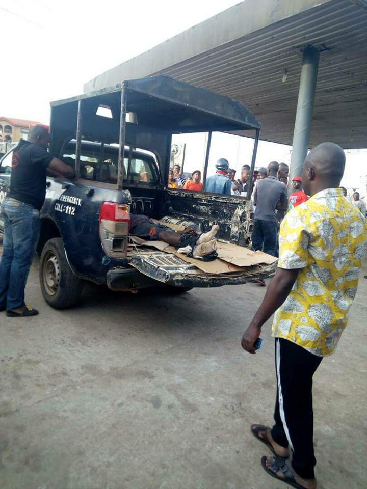 Security Guard Killed As Armed Robbers Strike At Filling Station In Awka (Photos)