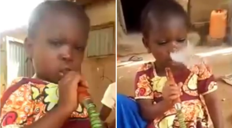 Video of 2-year-old Nigerian Girl Smoking Goes Viral Online