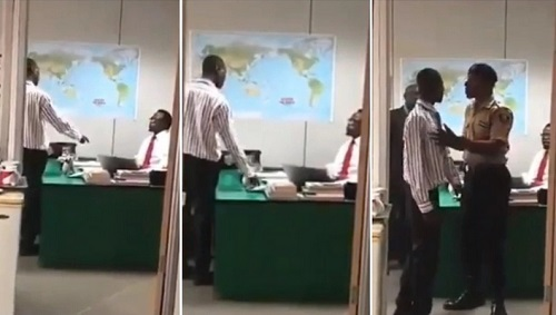 This Video Of Nigerian Employee Commanding His Boss To Sign A Document Will Make You Laugh Out Loud
