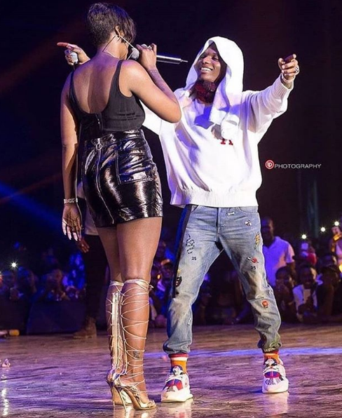 Lovely Photo of Wizkid and Tiwa Savage