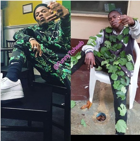 Hilarious Photo: Fan Replicates Wizkid Super Eagles Jersey Swag
