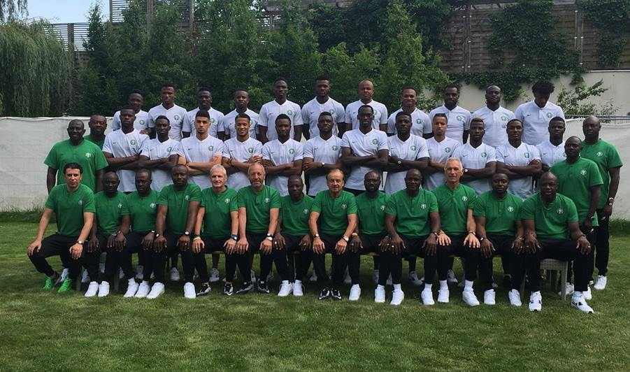 Nigeria Releases Official Team Photo Ahead Of World Cup In Russia