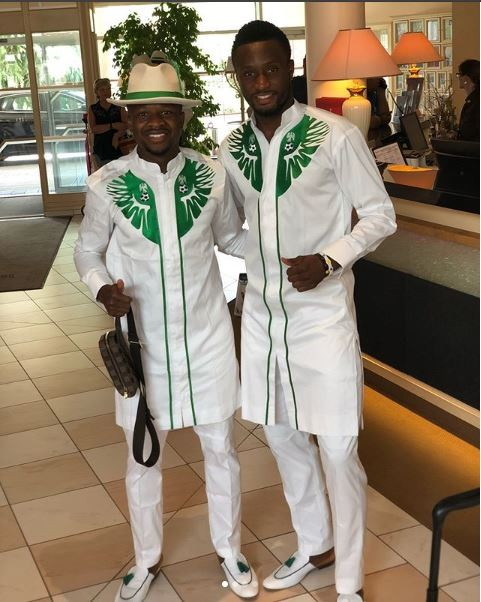 Super Eagles Travel In Style To Russia, Rock Matching Attires And Leather Slippers (Photos)