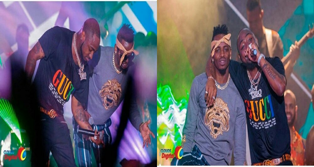 Diamond Platnumz Joins Davido At Davido's 30billion Concert In Tanzania (photos)