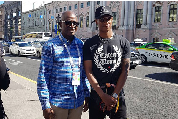 Nigerian Legend Meets With England And Manchester United Youngster In Russia(Photo)