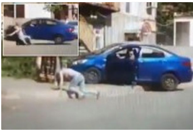 Husband Knocks Down Wife With His Car After Asking Him For Divorce (Photos)