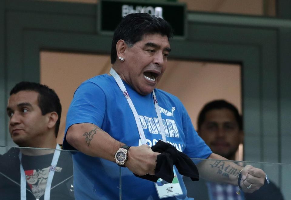 Maradona Demands Access To Speak With Argentina Players Ahead Of Nigeria Clash