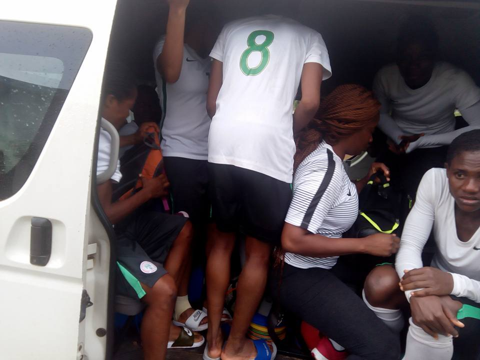 30 Women National Team Players Packed In A 14 Seater Bus In Abuja (Photos)