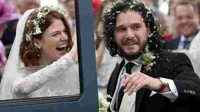 'Game of Thrones' Stars Kit Harrington and Rose Leslie Wed (Photos)