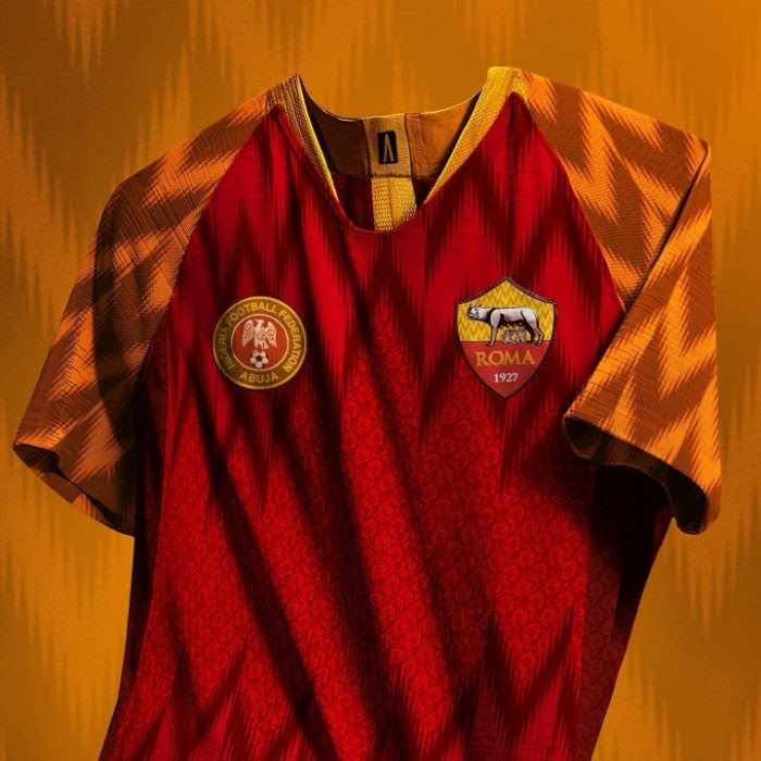 AS Roma To Adopt Super Eagles Design For Their Next Jersey ? (Photos)