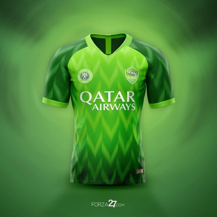 6a7f7620ed6 ... by the Nigerian Super Eagles jersey, Italian Serie A side, AS Roma  football club is calling on its fans worldwide to choose their preferred  design for ...