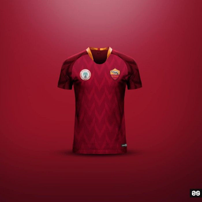 b80b13b995d AS Roma To Adopt Super Eagles Design For Their Next Jersey   (Photos ...
