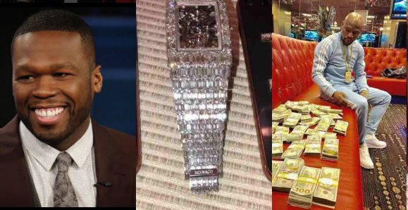 50 Cent Shades Floyd Mayweather Who Bought $18m Diamond Watch
