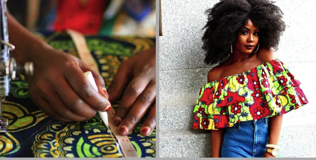 Make Your Own Fashionable Ankara Blouse With Open Shoulders (Photos)