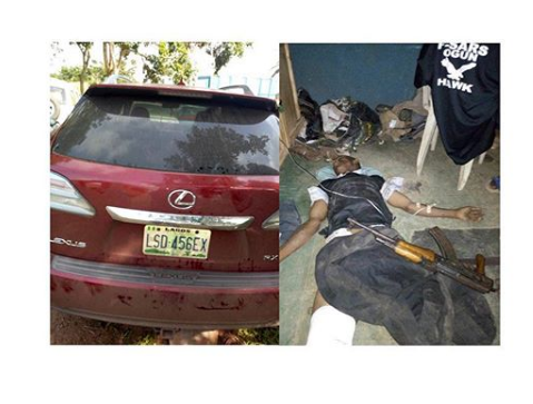 Armed Robber Shot Dead While Escaping With A Lexus Jeep He Stole (Photos)