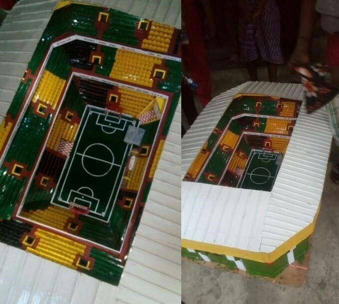 Wow!  JSS 2 Boy Constructs a Fully Equipped Stadium in Aba