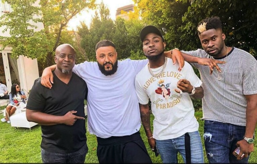 Davido Meets With World Famous Disc Jockey, DJ Khalid (Photos, Video)