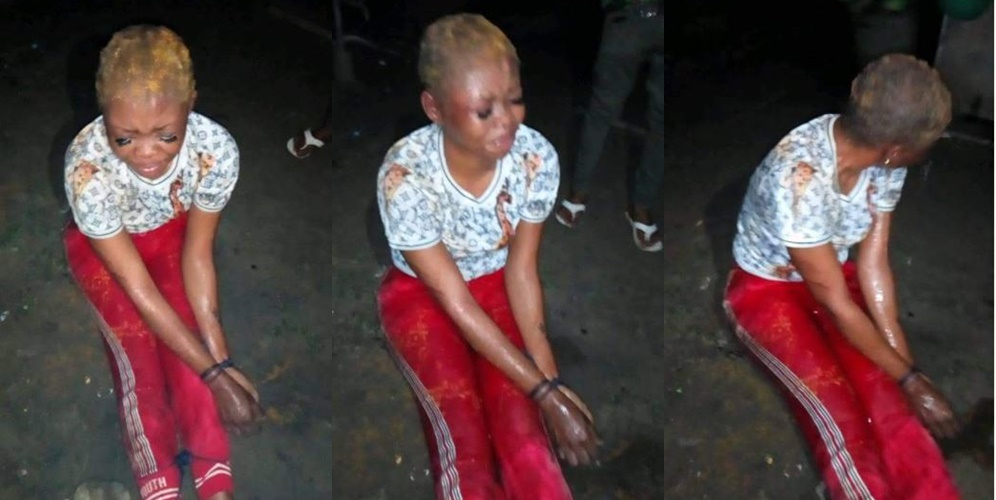 Slay Queen Tied Up For Allegedly Stealing Her Friend's N250K