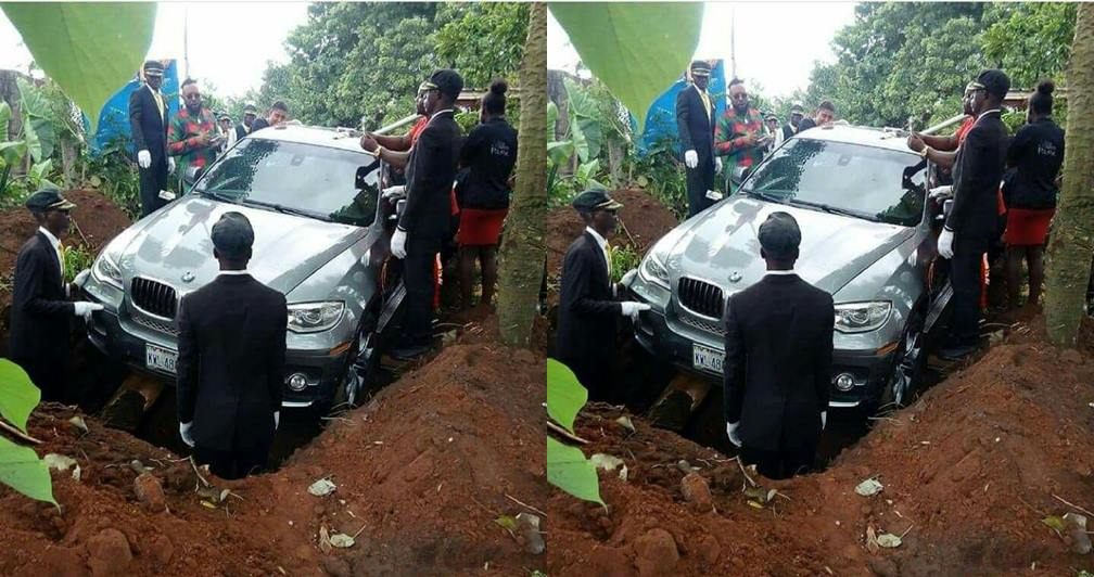 Ah! Man Buries His Father In A N32M BMW In Anambra (Photos)