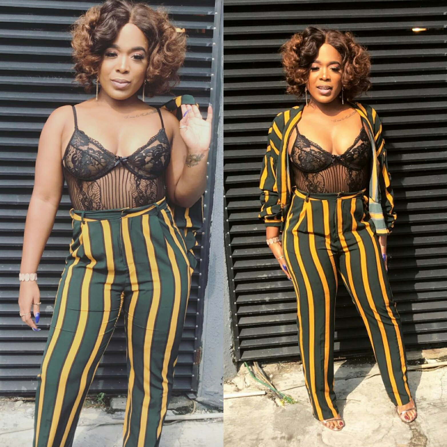 Moet Abebe Flashes B0obs In Sheer Bustier